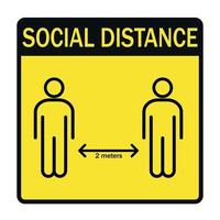 distância social da nova tendência mundial, consequências da pandemia - vetor