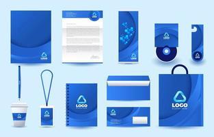 kit de papelaria usado para ocasiões de negócios vetor