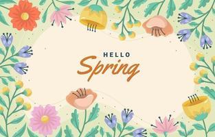 modelo de fundo de flores de primavera vetor