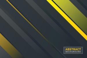 O fundo gradiente cinza e amarelo abstrato criativo pode ser usado em banner, cartaz, capa de livro, capa de CD, fundo de site, publicidade e muito mais. vetor