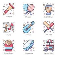 carnaval e instrumentos musicais vetor