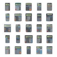 calculadoras eletrônicas e científicas vetor