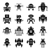 robôs e máquinas vetor