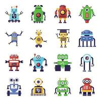 robôs e inteligência artificial vetor
