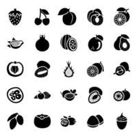 frutas de diferentes estações vetor