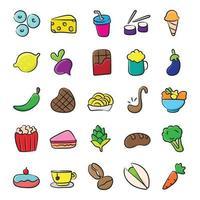 nutrição e alimentação vetor