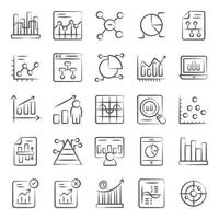 análises e gráficos de negócios vetor