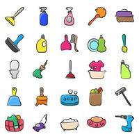 acessórios de limpeza de casa vetor