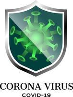 símbolo de vetor de coronavírus