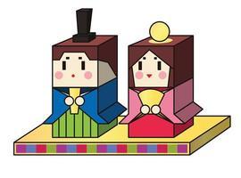 dia das meninas tradicionais japonesas, hinamatsuri