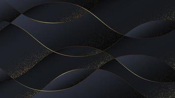 fundo abstrato de luxo em estilo de onda. vetor
