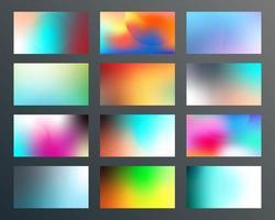 conjunto de design de texturas gradientes para plano de fundo, banner da web, papel de parede, folheto, cartaz, capa de brochura, tipografia ou outros produtos de impressão. ilustração vetorial vetor