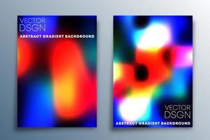 conjunto de design de textura gradiente para plano de fundo, papel de parede, folheto, cartaz, capa de brochura, tipografia ou outros produtos de impressão. ilustração vetorial vetor