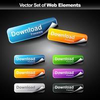 botões coloridos da web vetor