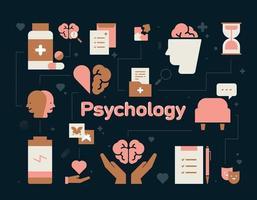 projeto de composição do ícone de psicologia. vetor