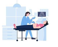 ultrassonografia de gravidez ou ilustração de conceito usg vetor
