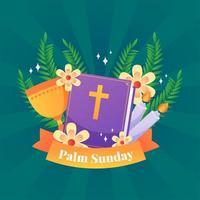 conceito de domingo de palma vetor