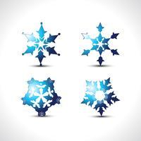 flocos de neve de vetor