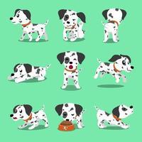 vetor desenho animado personagem cão dálmata