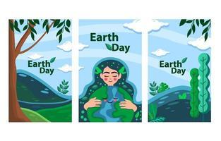 lindo banner do dia da terra vetor