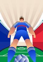 Ilustração do vetor de jogadores de futebol da Copa do mundo de França