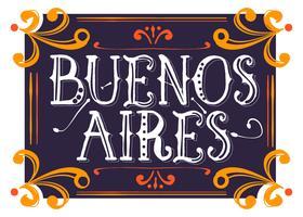 Buenos Aires Estilo Fileteado vetor