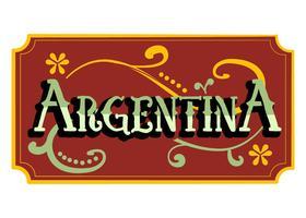 Argentina Palavra Fileteado vetor