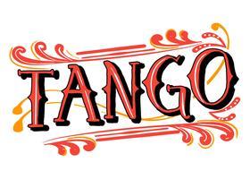 tango palavra fileteado vetor