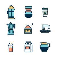 Fazendo ícones de café vetor