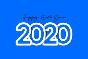 feliz ano novo 2020 ilustração de design de modelo de vetor