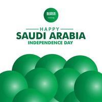 feliz dia da independência da Arábia Saudita ilustração de design de modelo vetorial vetor