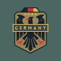 Emblemas do futebol da copa do mundo de Alemanha vetor