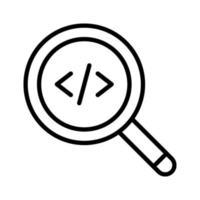 ícone de código de pesquisa vetor