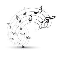 nota de música de vetor