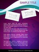 design de brochura abstrata vetor