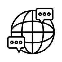 ícone de diálogo internacional vetor