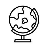 ícone de suporte do globo vetor