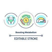 impulsionando o ícone do conceito de metabolismo vetor