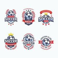 conjunto de distintivo do campeonato do clube de futebol vetor