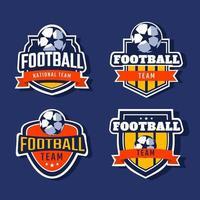coleção bagdes de futebol vetor