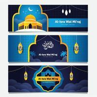 coleção de banner isra m'iraj vetor