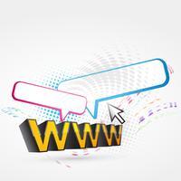 www texto vetor
