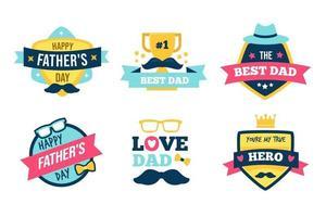 coleção de emblemas do dia dos pais vetor