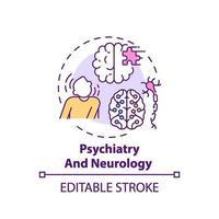 ícone do conceito de psiquiatria e neurologia vetor