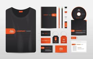 modelo de design de kit de papelaria empresarial vetor