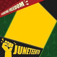celebrando a liberdade décimo primeiro fundo vetor
