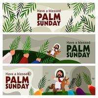banner palm domingo vetor