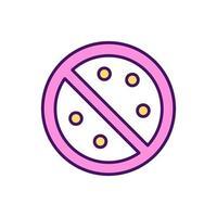 ícone de cor rgb de redução de risco de alergia vetor