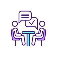 melhoria de habilidades de comunicação verbal ícone de cor rgb vetor