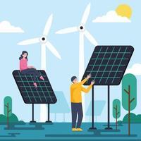 energia renovável alternativa vetor